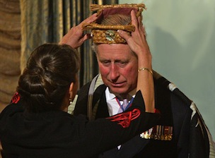 Prince Charles wears a First Nations cedar headband