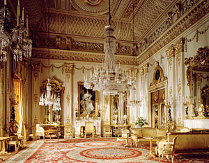 The White Drawing Room at Buckingham Palace in London