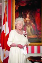Colour portrait of The Queen of Canada
